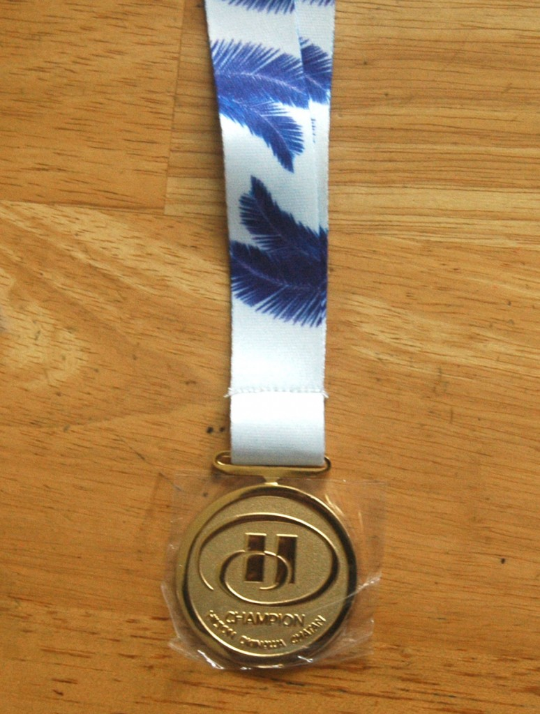 首かけ用(リボン付き)記念メダル