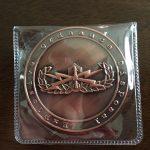 ソフトケースに入ったメダル